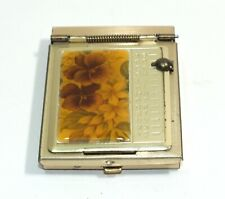 Vintage Vanity Item Purse Size Address Book Gold Tone Compact Travel Notepad