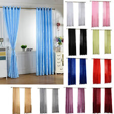 HH- New Solid Window Door Room Panel Shade Curtains Drape Valance Home Decor Pop
