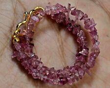 "N-1962/1 Tourmaline Natural Gemstone Uncut Chips Loose Beads 17ct 7"" Bracelet $"