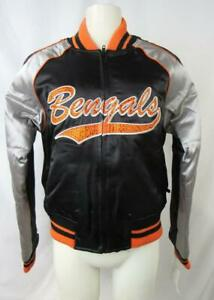 Cincinnati Bengals Womens M Full Zip Winter Jacket with Rhinestones ACIB 135