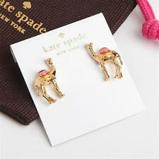 Kate Spade Gold-Tone Spice Things Up Camel Button Earrings With Dust Bag