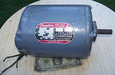 """Dayton 3 Phase Motor 1/2 HP 3N027D Used 208V 220V 440V 5/8"""" shaft"""