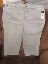 """Ladies """"Chaps"""" Size 16W (W39 X L16) Faded Blue (WTRFL WSH) Capris, MSRP $55"""