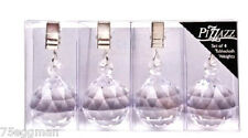 SET OF 4 ACRYLIC CRYSTAL TABLE CLOTH WEIGHTS BY PIZZAZZ DLINE - OUTDOOR DECOR