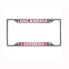 New NCAA Oklahoma Sooners Car Truck Chrome Metal License Plate Frame