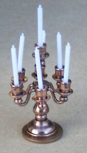 1:12 Scale Non Working 7 Arm Metal Table Candelabra Tumdee Dolls House Light 579