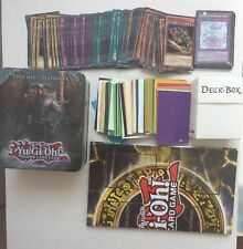 YuGiOh Collector Tin with 110 Cards + Sleeves + Deck Box + PLAYMAT/BOARD