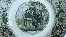 ASSIETTE Creil Montereau - Dumas comte Monte-Cristo - 19eme - N°2  Le complot