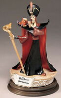 Disney Jafar and Iago from Aladdin Villain Capodimonte Laurenz C.O.A.