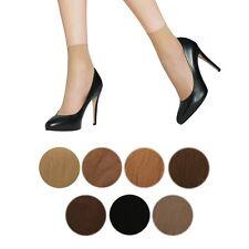 3 / 6 Pairs Ladies Ankle Sheer Socks Comfortable 15 Denier Anklets Pop Socks