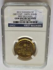 2012 CANADA DOLLAR NGC GREYCUP 100TH ANNIVERSARY FIRST RELEASES GEM UNCIRCULATED