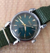 Vintage Swiss 70s Oris Large Case Horned Lugs Dress Watch