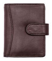 New Genuine Soft Leather Credit Card Holder Case Wallet For Mens Womens 602-BRN