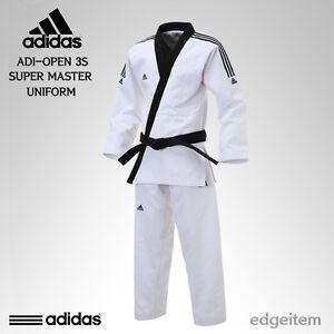 Adidas ADI-OPEN 3S SUPER MASTER Uniform (3-Stripe) Taekwondo Hapkido Open Dobok