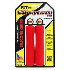 ESI FIT XC Silicone MTB Mountain Bike Bicycle Handlebar Bar Grips / 65g - Red