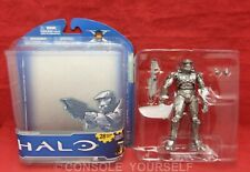 HALO ANNIVERSARY PLATINUM SILVER MASTER CHIEF FIGURE - USED - MCFARLANE - UK