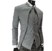 Stylish mens slim fit coat jacket blazer two buttons HOT SALE Dress Formal Party
