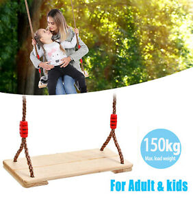 Wooden Garden Swing Seat Gift Outdoor Pine Wood Swing Chair Adults & Kids Adults