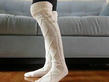 SALE- Boot Socks, Leg Warmers, Gift, Stocking Stuffers,Socks -Ivory