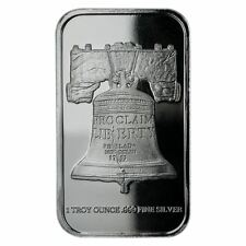 Republic Metals 1 oz Silver Bar SD Bullion Exclusive Proclaim Liberty Bar