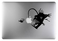 Angler Fish decal sticker Black art for Apple Macbook 13, 15, 17 inch Air 11 13