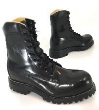 "Chippewa Mens 8"" Steel Toe Boots Lace Up Black Polishable Leather Size 7 D"