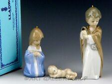 Lladro Nativity Mini Figurines Ornaments Holy Family Set 3Pc #5657 Mint Box