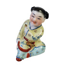 """Vintage Chinese Porcelain Laughing Child in Robe  3.75"""" Figurine Decoration"""