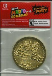 SUPER MARIO 3D WORLD + BOWSER'S FURY NINTENDO SWITCH PRE-ORDER BONUS GOLD COIN