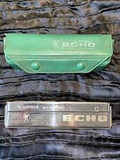 More details for vintage m. hohmer harmonica (no. 2209) with green case - c - made in germany