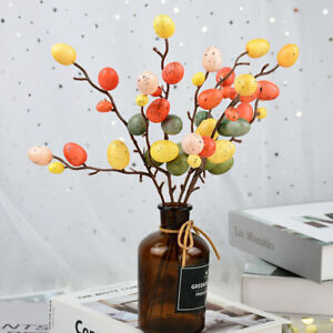 Home DIY Painting Hanging Ornaments Egg Tree Branches Easter Decoration