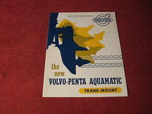1959 Volvo Penta Aquamatic Boats Sales Brochure Old Original Catalog Booklet