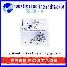10 x 5gr 1/0 Hook JIG HEAD MODEL1  SQUIDGIES BERKLEY GULP Z-MAN PLASTICS