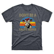 Don't Be A Salty Heifer Retro Vintage Men's T-shirt Heather & Cotton Funny Tee