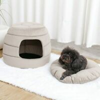 Collapsible Cat Cave Warm House Kennel Beds Pet Cats Sofa Mats Dogs for Small