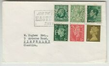 Stamps England various perfins on various stamps on 1960 cover to Cheshire