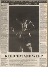 21/10/89Pgn21 Article & Picture An Clasic Rock Interview With Lou Reed, 1975