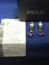 Ballou Sterling Silver Amethyst Dangle Earrings