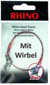 2 Stück Zebco Rhino Edelstahlvorfach 7x7 Stahlvorfach