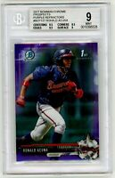 RONALD ACUNA 2017 Bowman Chrome PURPLE Refractor Rookie Card RC /250 BGS 9 Mint