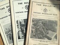 3x VINTAGE SPORTS-CAR CLUB THE BULLETINS, May 1951, Autumn 1978, Winter 1978