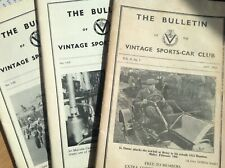 3x VINTAGE SPORTS-CAR CLUB THE BULLETINS, May 1951, Autumn 1978, Winter 1978