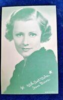 IRENE DUNNE Arcade Card 1950's MOVIE ARCADE CARD Blue tone