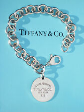 Tiffany & Co Return to TIFFANY Round Circle Tag Bracelet in Sterling Silver