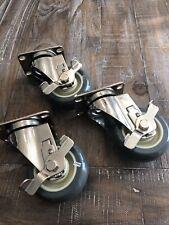 Set Of 4 35 Smooth Glide Locking Caster Wheels