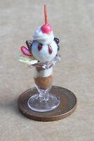 1:12 Scale Mixed Ice Cream Sundae Dolls House Miniature Kitchen Accessory I18