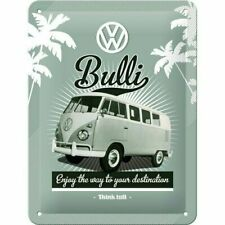 VW Bulli Bus Tin Sign - Vintage Retro Nostalgic Home Garage Decor Plaque