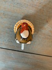 Nora Fleming Hand-Painted Mini: Gobble Gobble (Turkey) A47 Gently Used