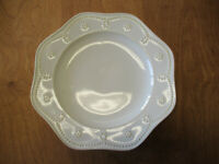 """Food Network FONTINELLA WHITE Dinner Plate 11 1/4"""" Embossed 1 ea  1 available"""