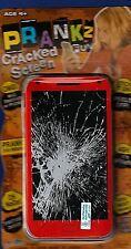 NEW BROKEN CELL PHONE SCREENS FAKE CRACKED CLINGS DECAL JOKE GAG GIFT PRANK